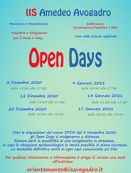 Open Day 2021 2022